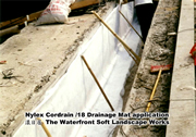 Nylex Cordrain /18 for soft landscape works in The Waterfront project